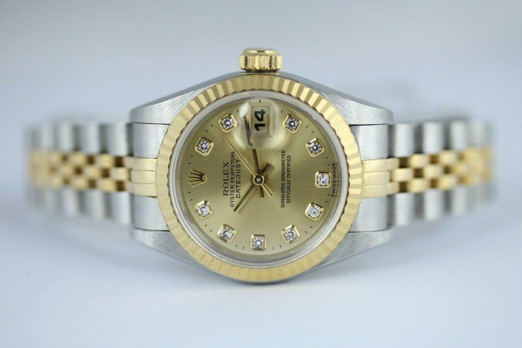Pfandhaus VS   Rolex Lady Datejust Damenuhr Brillanten Stahl